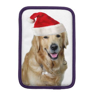 Labrador christmas-santa claus dog-santa dog-pet iPad mini sleeve