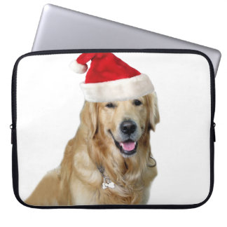 Labrador christmas-santa claus dog-santa dog-pet laptop sleeve