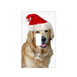 Labrador christmas-santa claus dog-santa dog-pet light switch cover