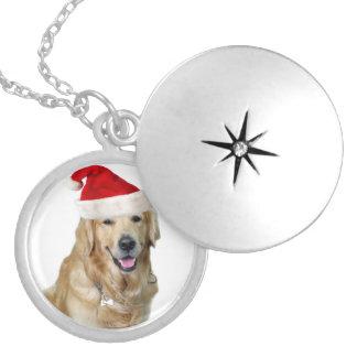 Labrador christmas-santa claus dog-santa dog-pet locket necklace