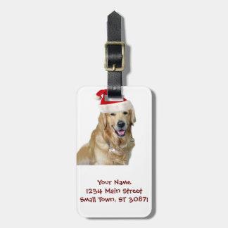 Labrador christmas-santa claus dog-santa dog-pet luggage tag