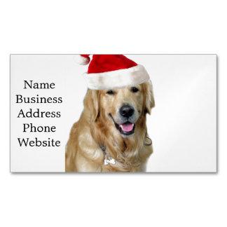 Labrador christmas-santa claus dog-santa dog-pet Magnetic business card
