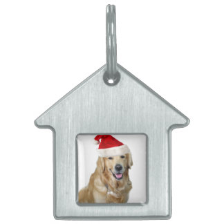 Labrador christmas-santa claus dog-santa dog-pet pet tag