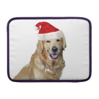 Labrador christmas-santa claus dog-santa dog-pet sleeve for MacBook air