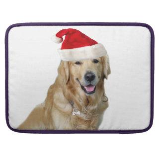 Labrador christmas-santa claus dog-santa dog-pet sleeve for MacBooks