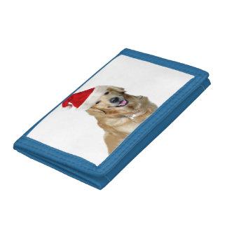 Labrador christmas-santa claus dog-santa dog-pet tri-fold wallet