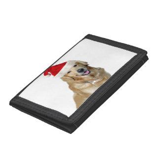 Labrador christmas-santa claus dog-santa dog-pet trifold wallets