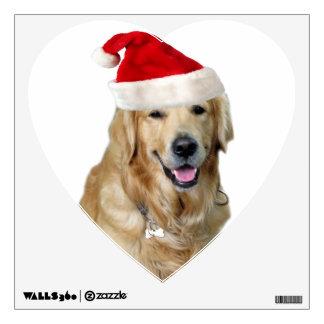 Labrador christmas-santa claus dog-santa dog-pet wall sticker