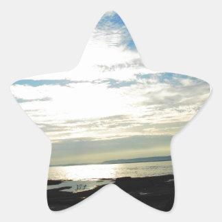 Labrador Coast Blue Skies and Beach Star Sticker