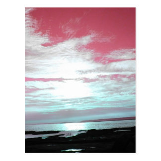 Labrador Coast Pink Skies and Beach Postcard