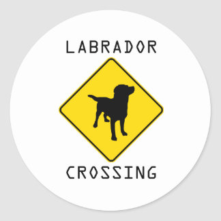 Labrador Crossing Classic Round Sticker