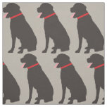 Labrador Dog Chocolate Pattern Fabric