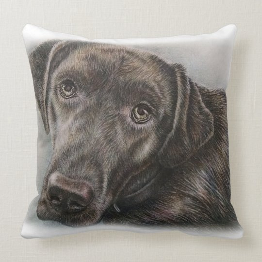 Labrador Dog Design of Animal Art Throw Pillow