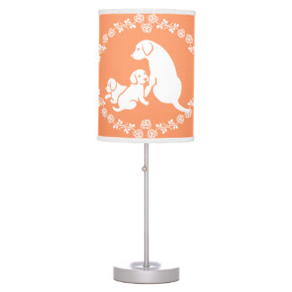 Labrador Dog Family Table Lamp