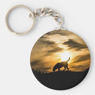 Labrador Dog Keyring Basic Round Button Keychain