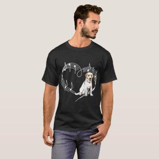 Labrador Dog Love Rhythm Heartbeats Tshirt