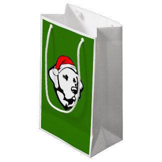 Labrador Dog with Christmas Santa Hat Small Gift Bag