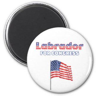 Labrador for Congress Patriotic American Flag Magnet