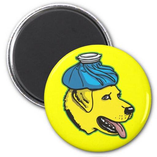 Labrador Hangover Gear Refrigerator Magnet