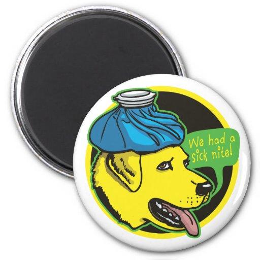 Labrador Hangover Gear Fridge Magnet