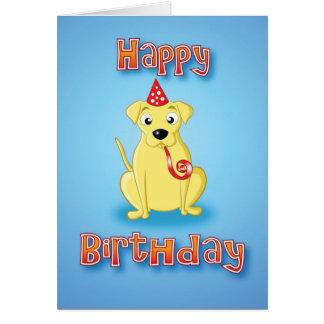 labrador - hat&whistle - happy birthday card