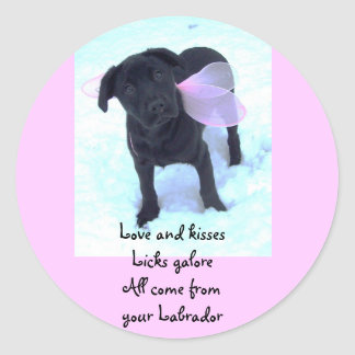 Labrador kisses sticker