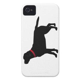 Labrador noir avec le collier rouge coques Case-Mate iPhone 4