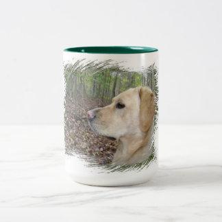 Labrador on Alert - Two Tone Two-Tone Coffee Mug