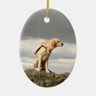 Labrador Oval Ornament