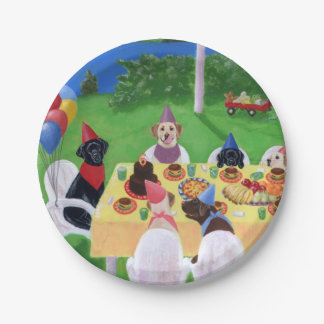 Labrador Party Paper Plates 7 Inch Paper Plate