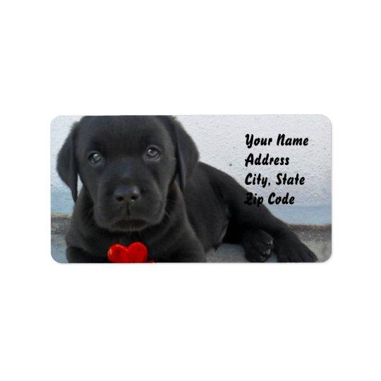 Labrador puppy address labels