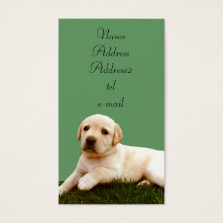 Labrador puppy business cards