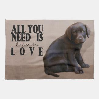 Labrador Puppy Kitchen Towel