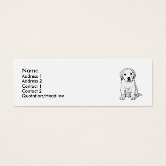 Labrador Puppy skinny business cards