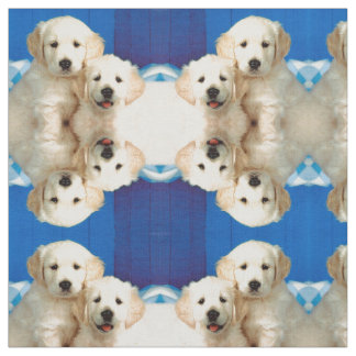 Labrador pups fabric