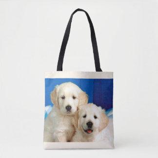Labrador pups tote bag