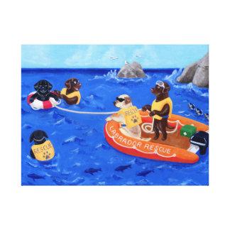 Labrador Rescue Team Gallery Wrap Canvas