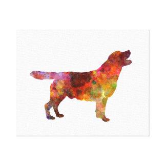 Labrador retriever 01 in watercolor 2 canvas print