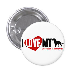 Labrador Retriever 1 Inch Round Button