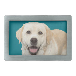 Labrador retriever 1 rectangular belt buckle
