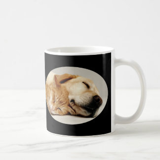 Labrador Retriever and Cat Mug