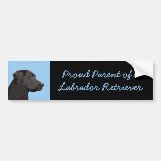 Labrador Retriever (Black) Bumper Sticker