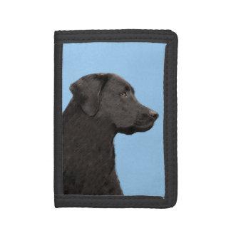 Labrador Retriever Black Painting Original Dog Art Tri-fold Wallets