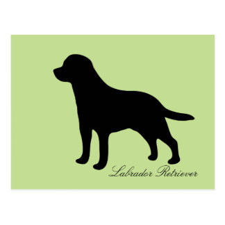 Labrador Retriever black silhouette dog postcard