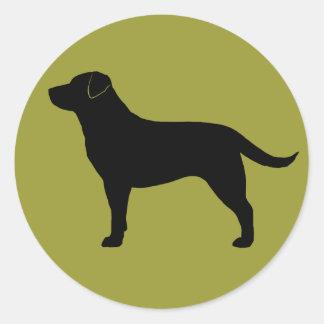 Labrador Retriever (Black) Classic Round Sticker