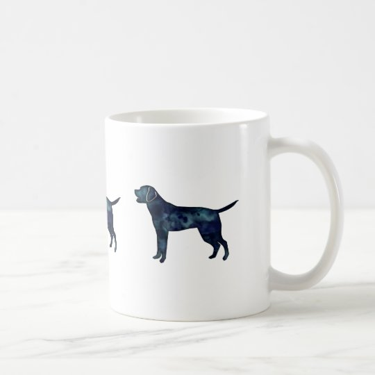 Labrador Retriever Black Watercolor Silhouette Coffee Mug