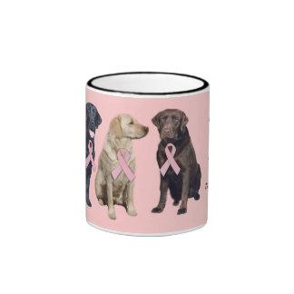 Labrador Retriever Breast Cancer Mug