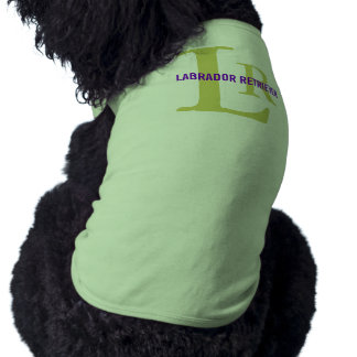 Labrador Retriever Breed Monogram Design Dog T Shirt