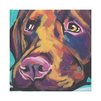 Labrador retriever Bright Colorful Pop Dog Art Canvas Print