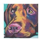 Labrador retriever Bright Colourful Pop Dog Art Canvas Print